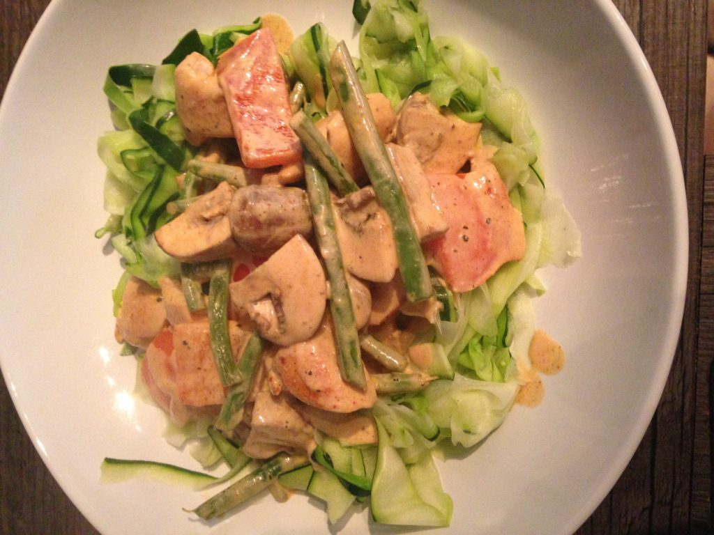 Creamy Chicken with Courgettii