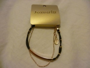 Black and Gold Accessorize Bracelet