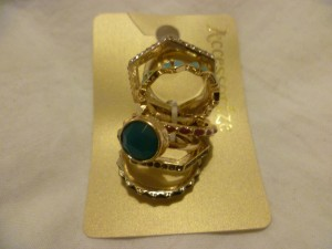 Accessorize Enamel and Stone Rings