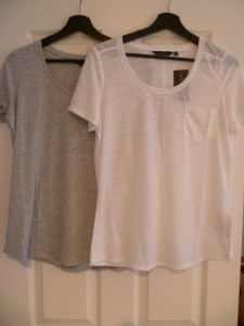 New Look Grey and White Tee