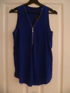 New Look Blue Zip Top