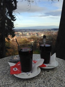 Petrin Tower with Hot Wine