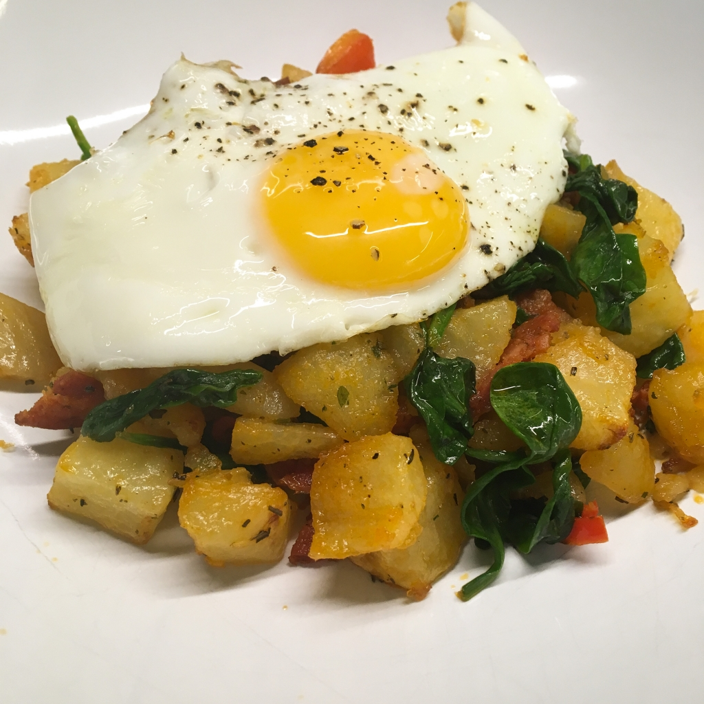 Easy Chorizo Hash and Fried Egg