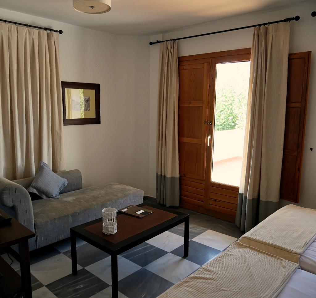 Lounge Area in our Room at Hotel Villa de Laujar de Andarax