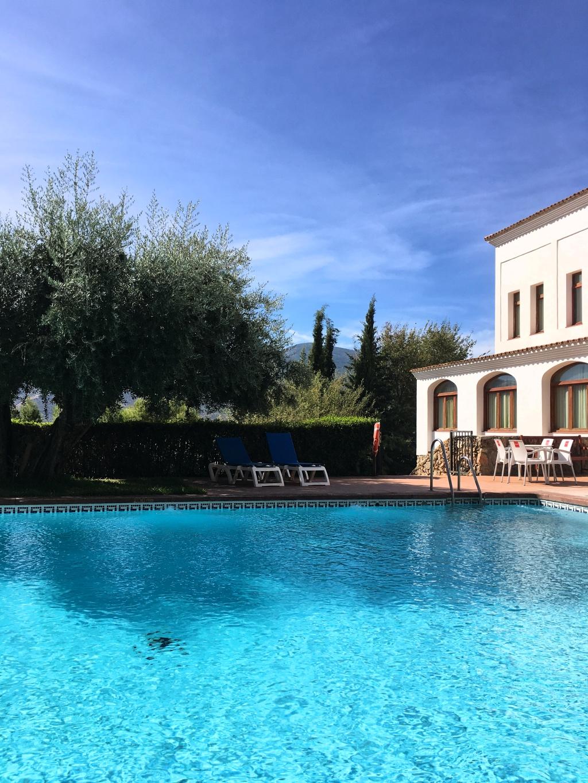 Swimming pool at hotel villa de laujar de andarax city of simplicity for Villas in uk with swimming pool