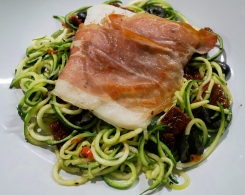 Parma Ham Wrapped Courgetti with Chilli and Garlic