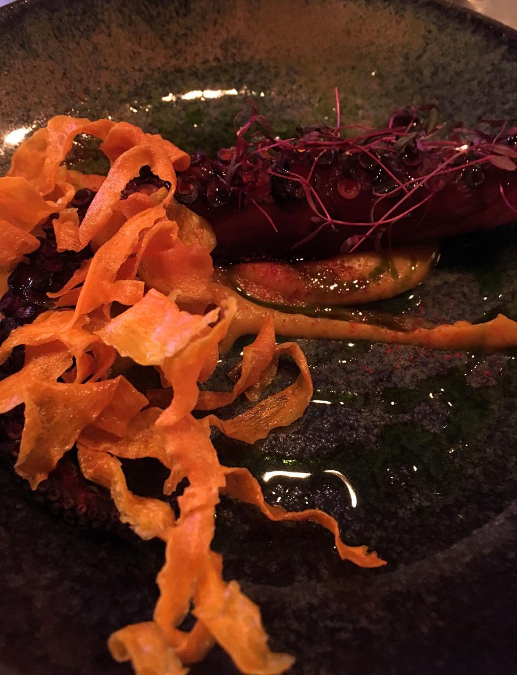 Octopus with Sweet Potato