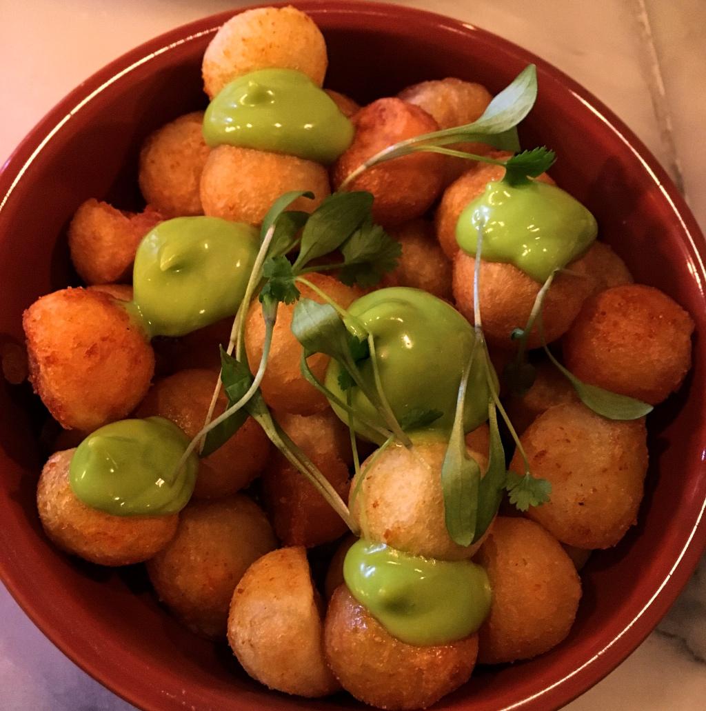BD Potatoes with Coriander Mayonnaise