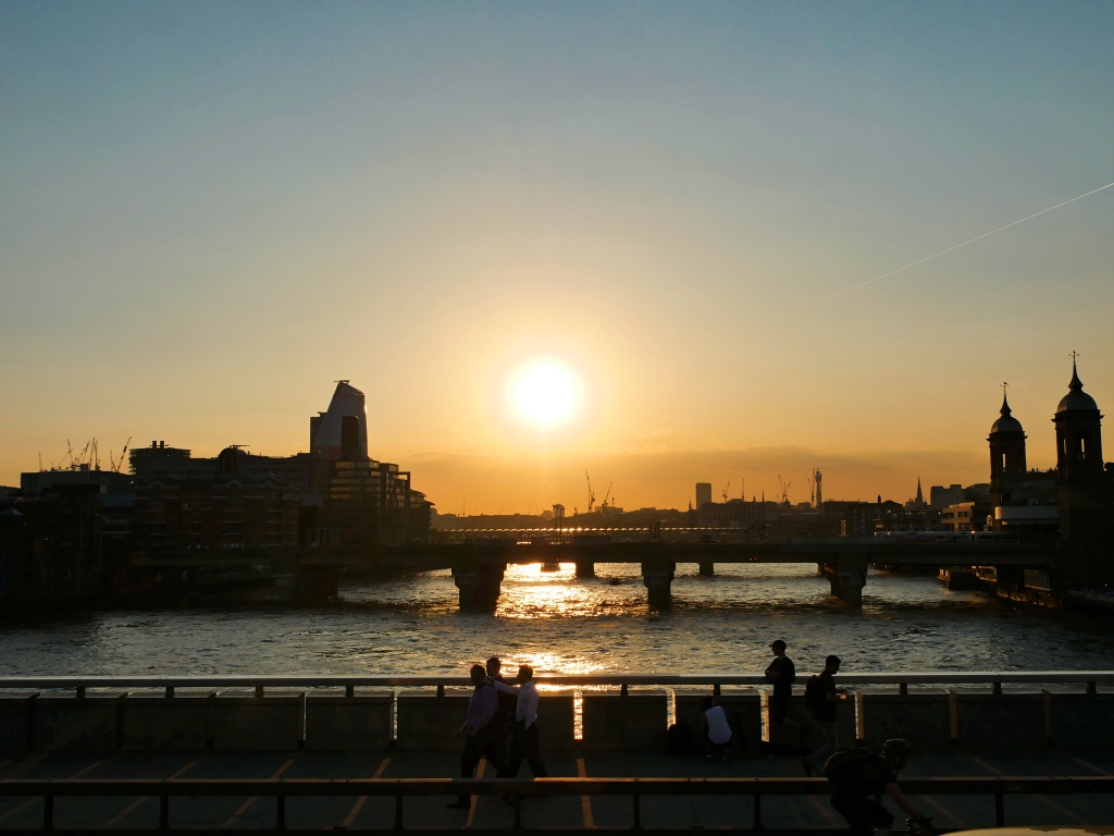 Sunset over the Thames
