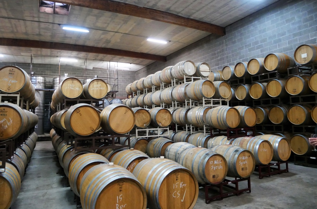 The Barrel Room at the Madonna Estate