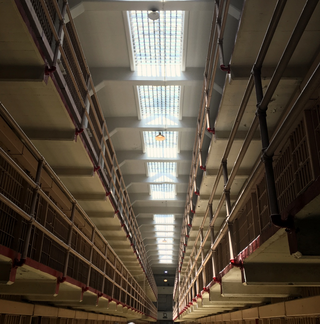 Cell block roof at Alcatraz