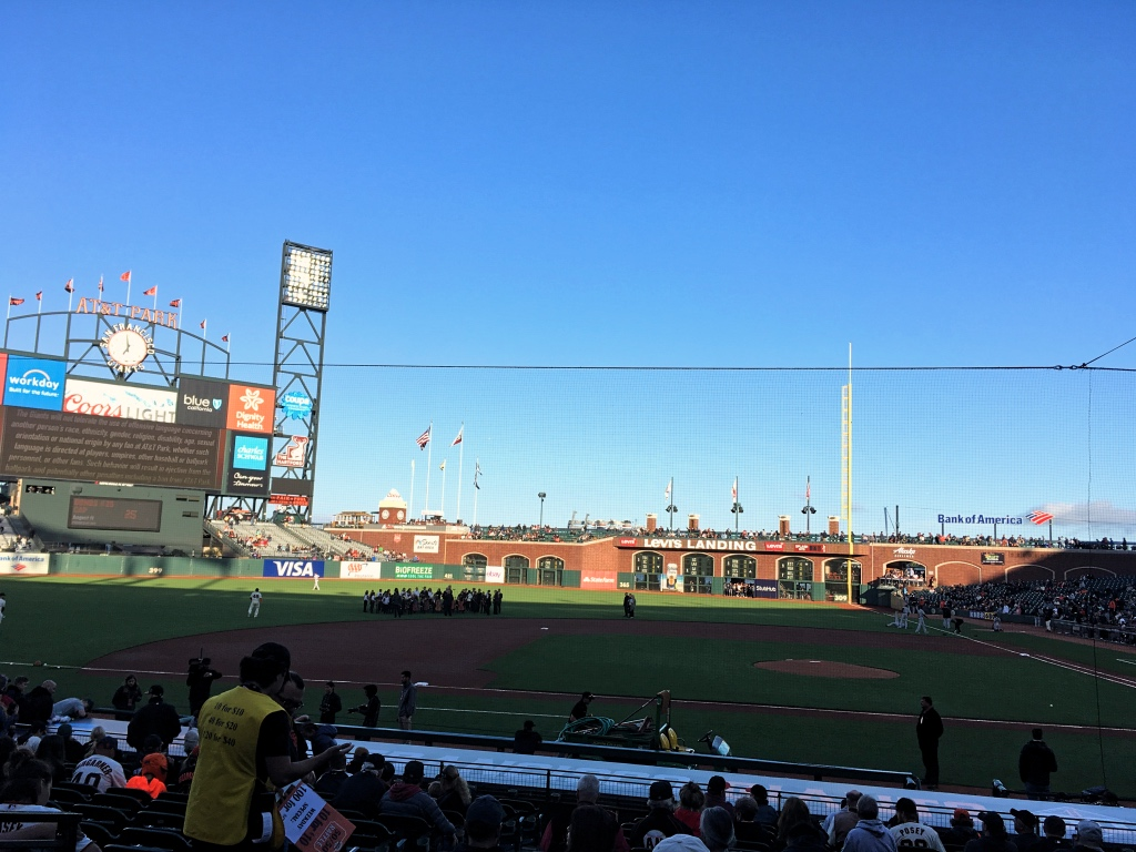 Giants game at the AT&T Ballpark
