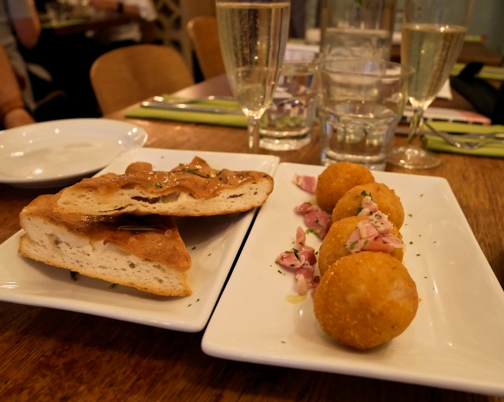 The Focaccia and Fried Balls