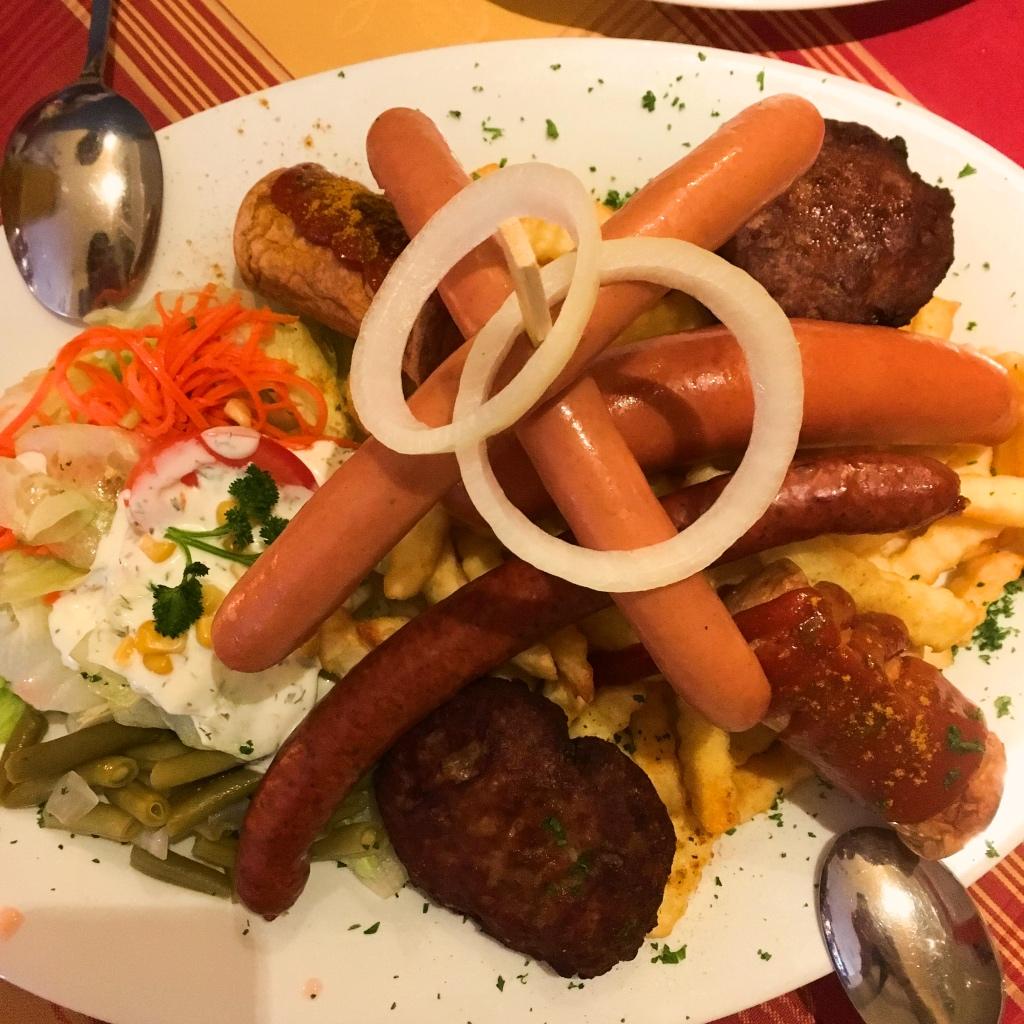 Berliner Plateful of Sausages