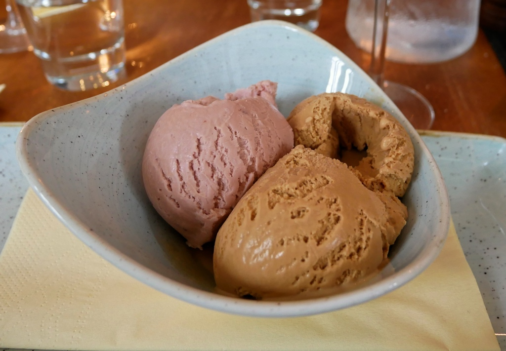 Salted Caramel and Strawberry Ice Cream